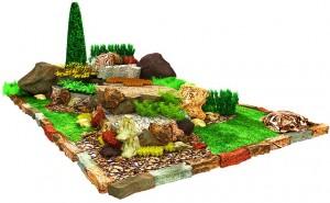 Ландшафтный дизайн участка, план