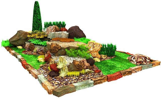 Ландшафтный дизайн участка план