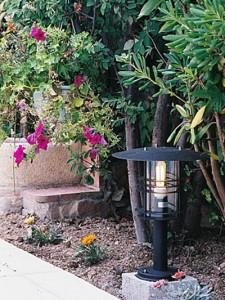 Светильники для сада прямо возле дорожки