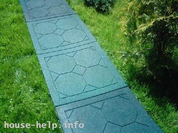 Резиновое покрытие для сада
