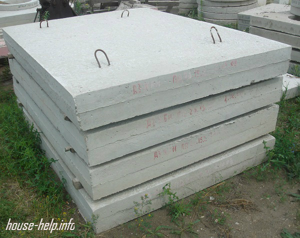Можно использовать и бетонные плиты