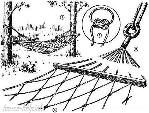 Схема плетения дачного гамака