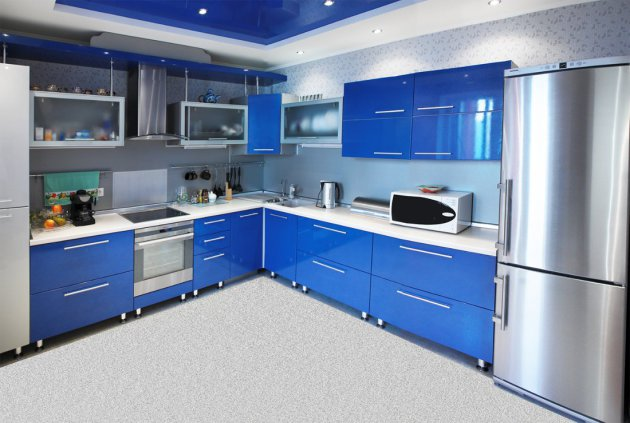 Синяя кухня – залог процветания и успеха