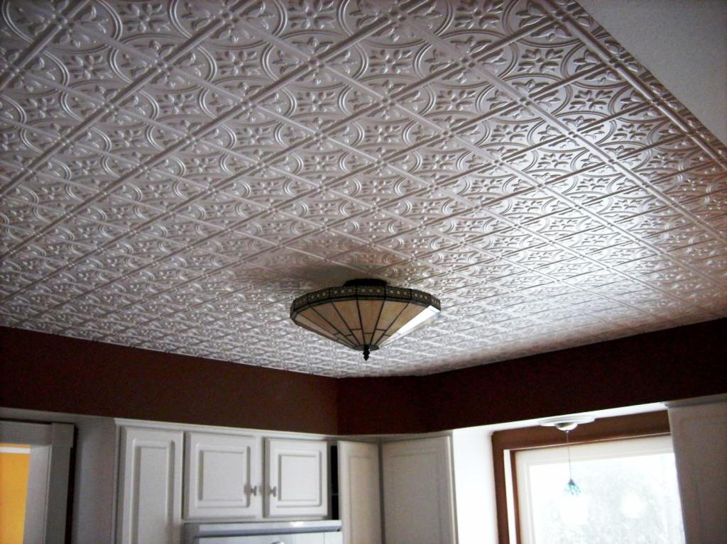 Decorative metal ceiling tiles