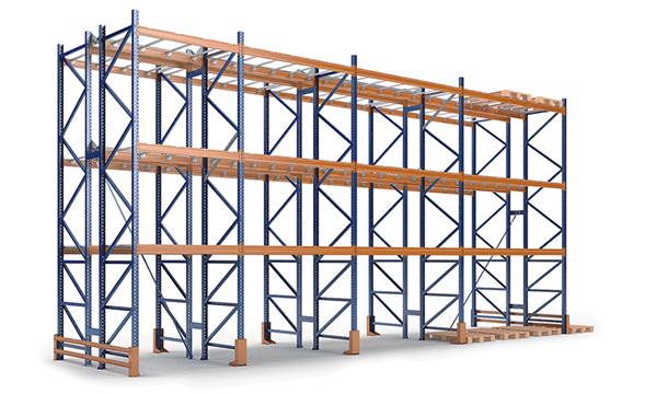 Фронтальные стеллажи и оборудование для складов