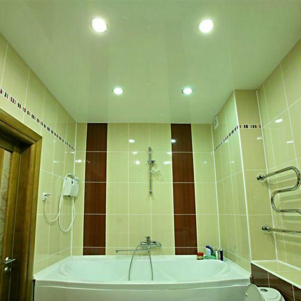 Ремонт в ванной. Устанавливаем натяжной потолок