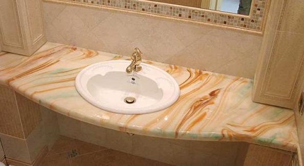 Столешница в ванную из натурального камня на Dreamstone