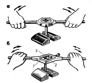 Схема нарезания резьбы