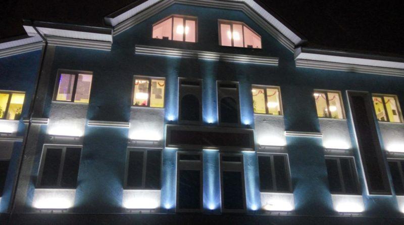 Архитектурные решения со светодиодными проектами